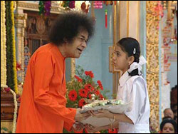 Swami with Young Girl